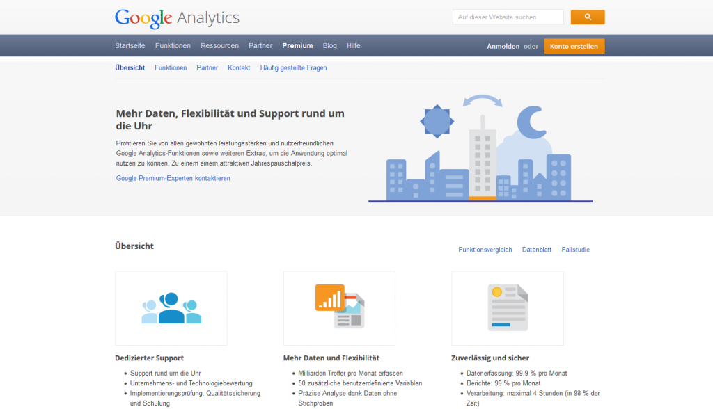 Google Analytics Startseite Account