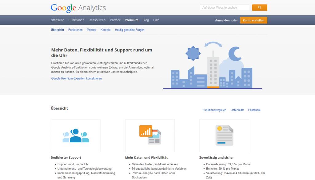 Google Analytics Startseite Account
