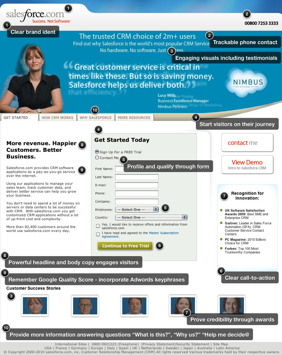 Landingpage Salesforce
