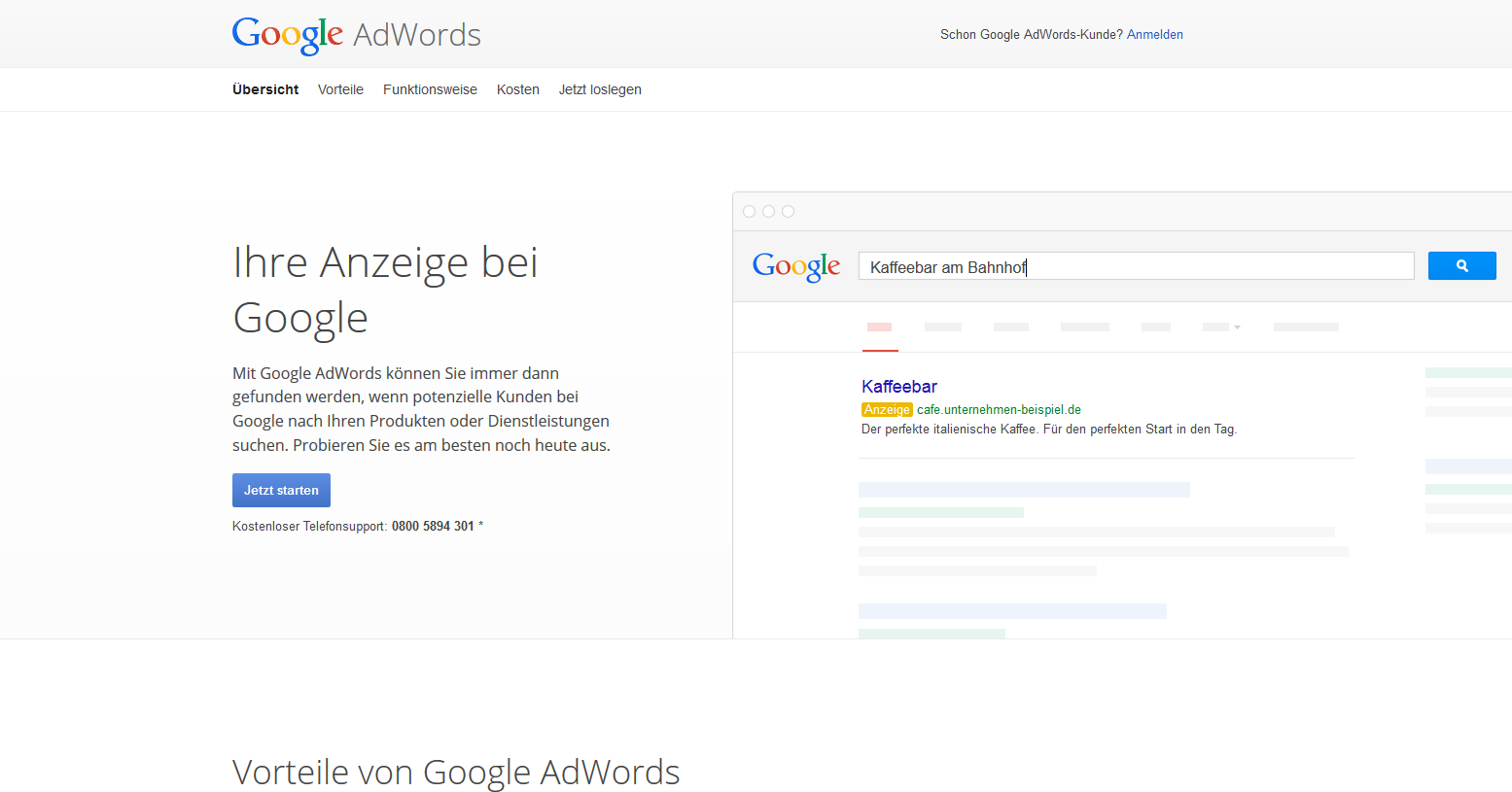 Google Adwords Account anlegen