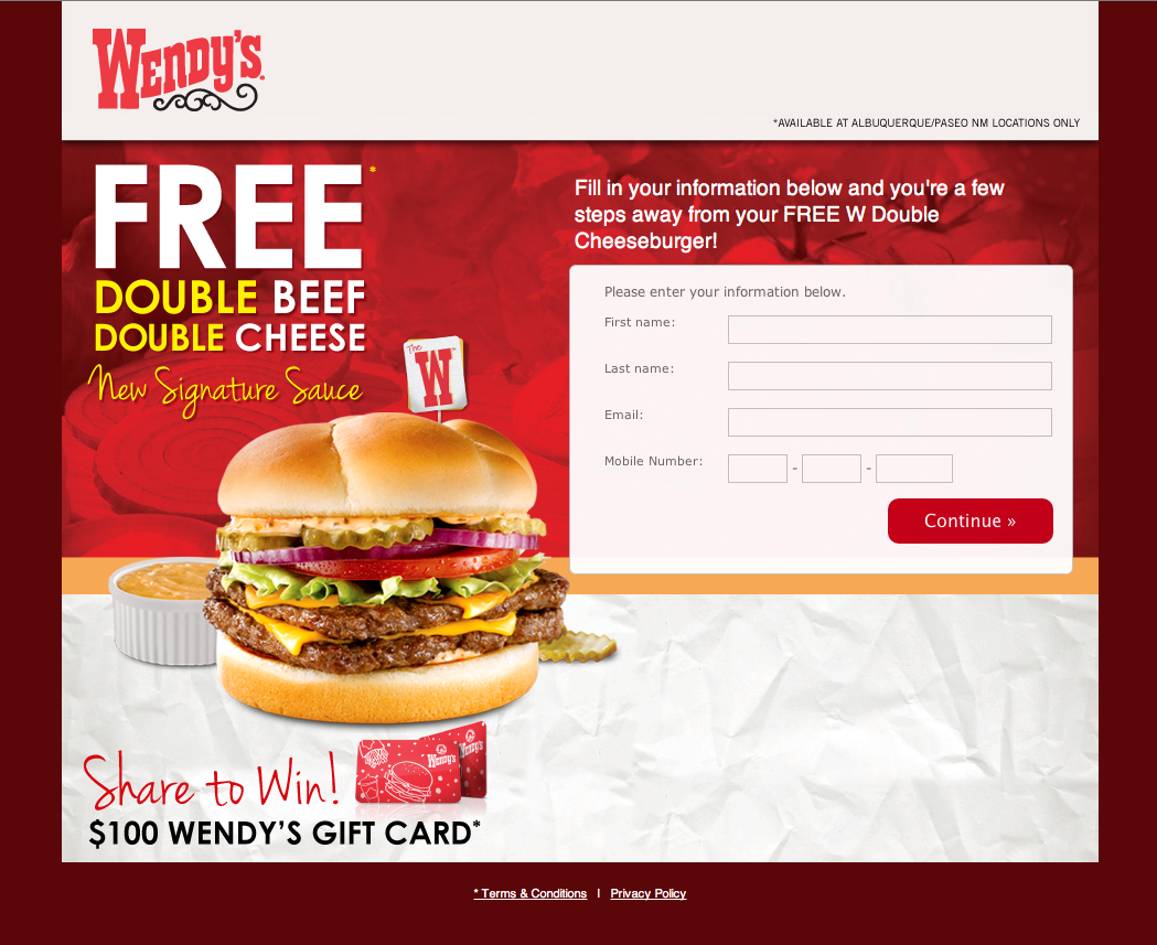 Landing Page optimiert Wendy