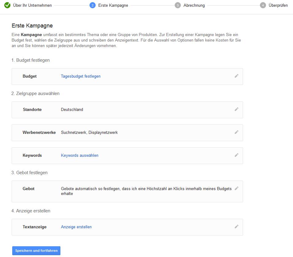 """Google AdWords Fehler - """"Am Start nicht aufgepasst"""