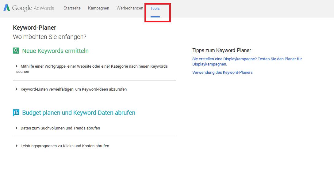 Google AdWords Fehler - Fehlende Zielgruppe