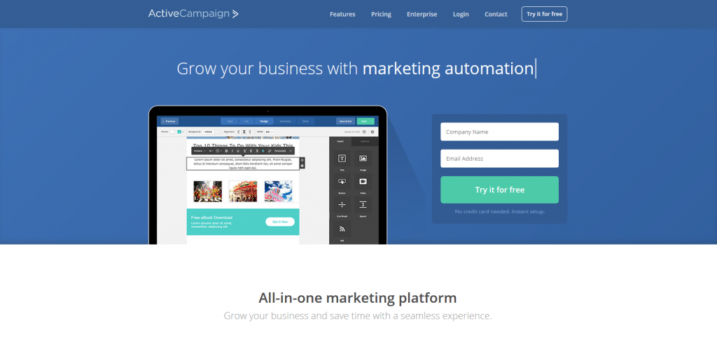 Marketing Automation Software Active Campaign