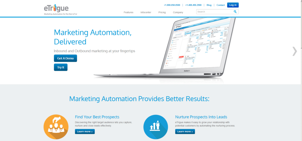 Marketing Automation Software etrigue