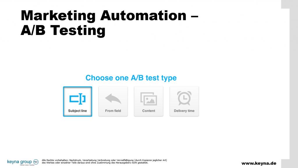 Marketing Automation A/B Test