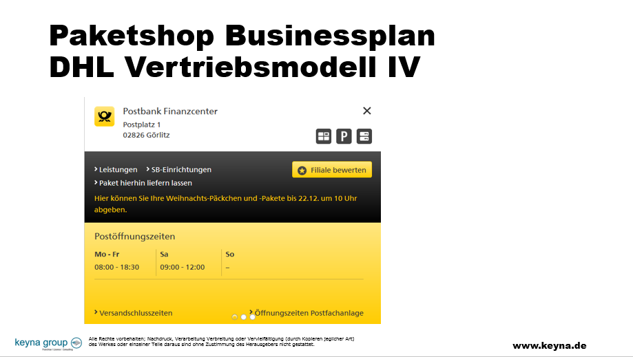 Businessplan Paketshop, Businessplan Paketshop