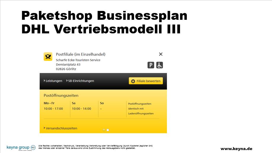 Businessplan Paketshop, Businessplan Paketshop