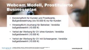 Businessplan Prostituierte Webcam Erotikmodell