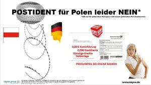 Postident Verfahren KO – Kein Bankkonto/ Kredit für Polen