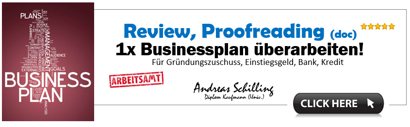 Businessplan Vorlage Proofreading, Review