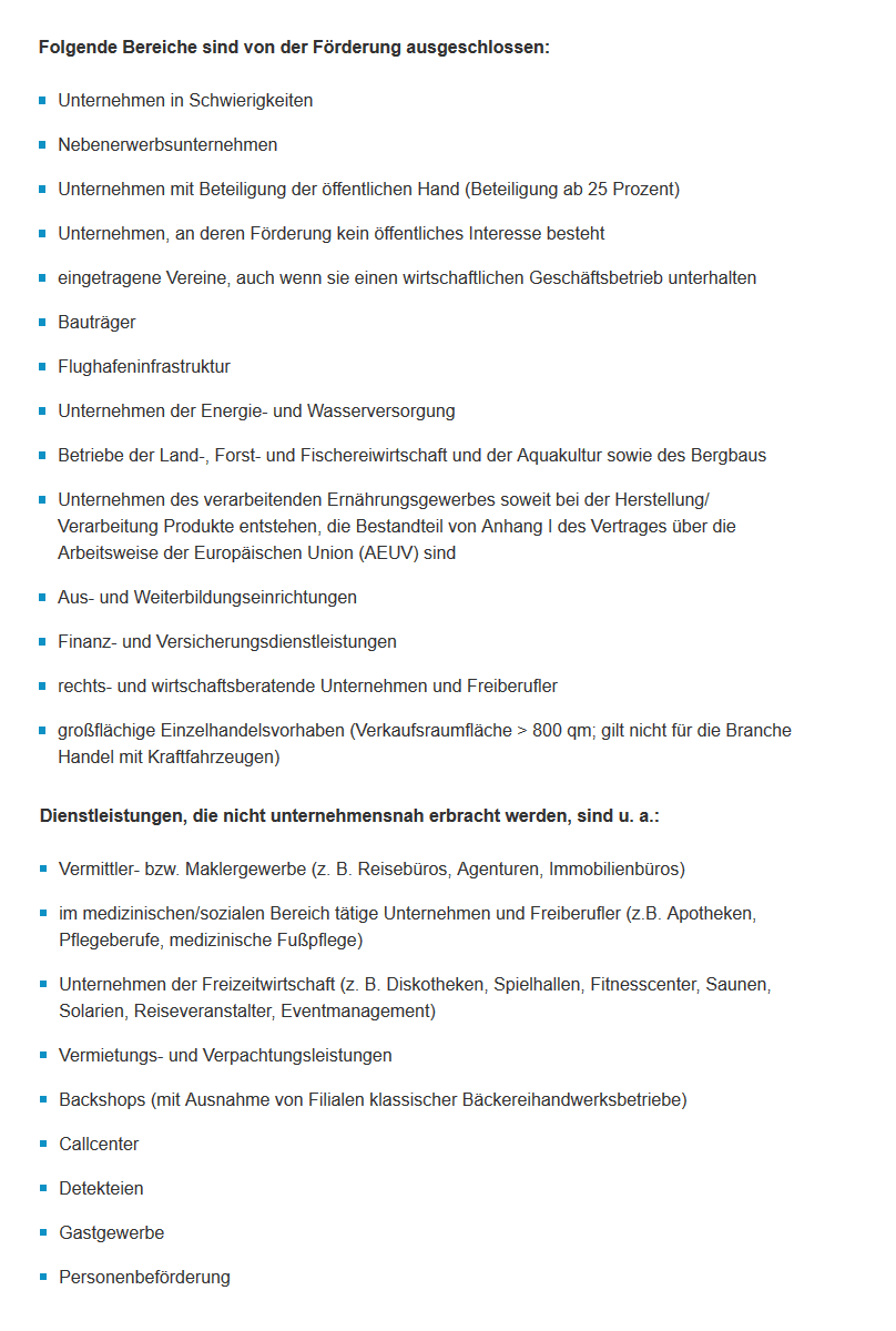 Digitalbonus Thüringen, Übersicht Förderprogramm Digitalisierung – Digitalbonus Thüringen