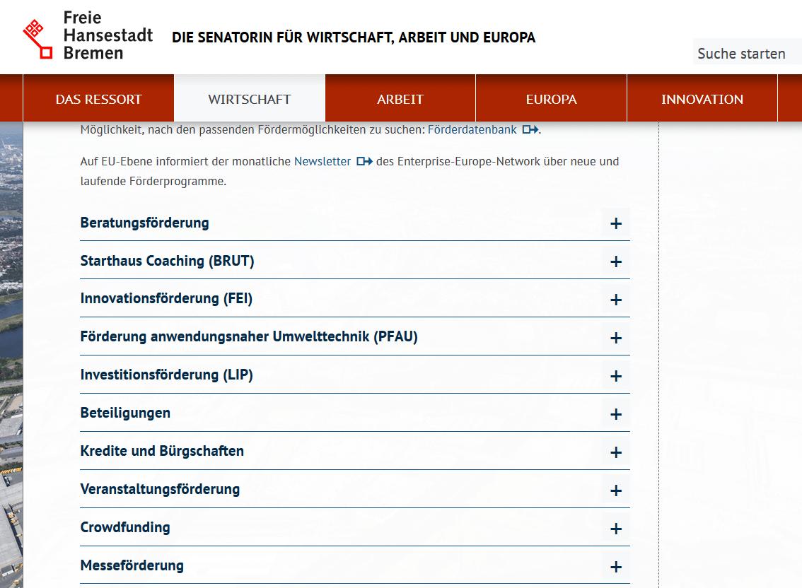 eBusiness Digitalisierung, Übersicht Förderprogramm Zuschuss eBusiness Digitalisierung