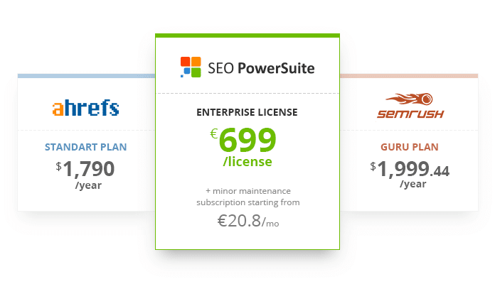 SEO PowerSuite, Wann sollten Sie SEO PowerSuite anstelle von SEMrush und Ahrefs wählen?