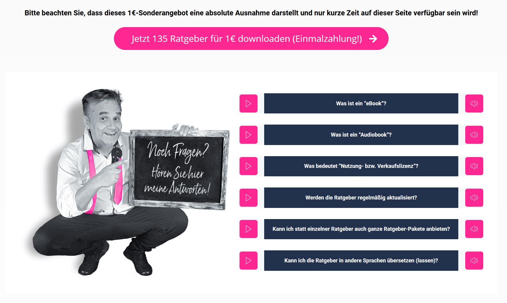 Ratgeber Business, Geschäftsideen – eBook Ratgeber Business