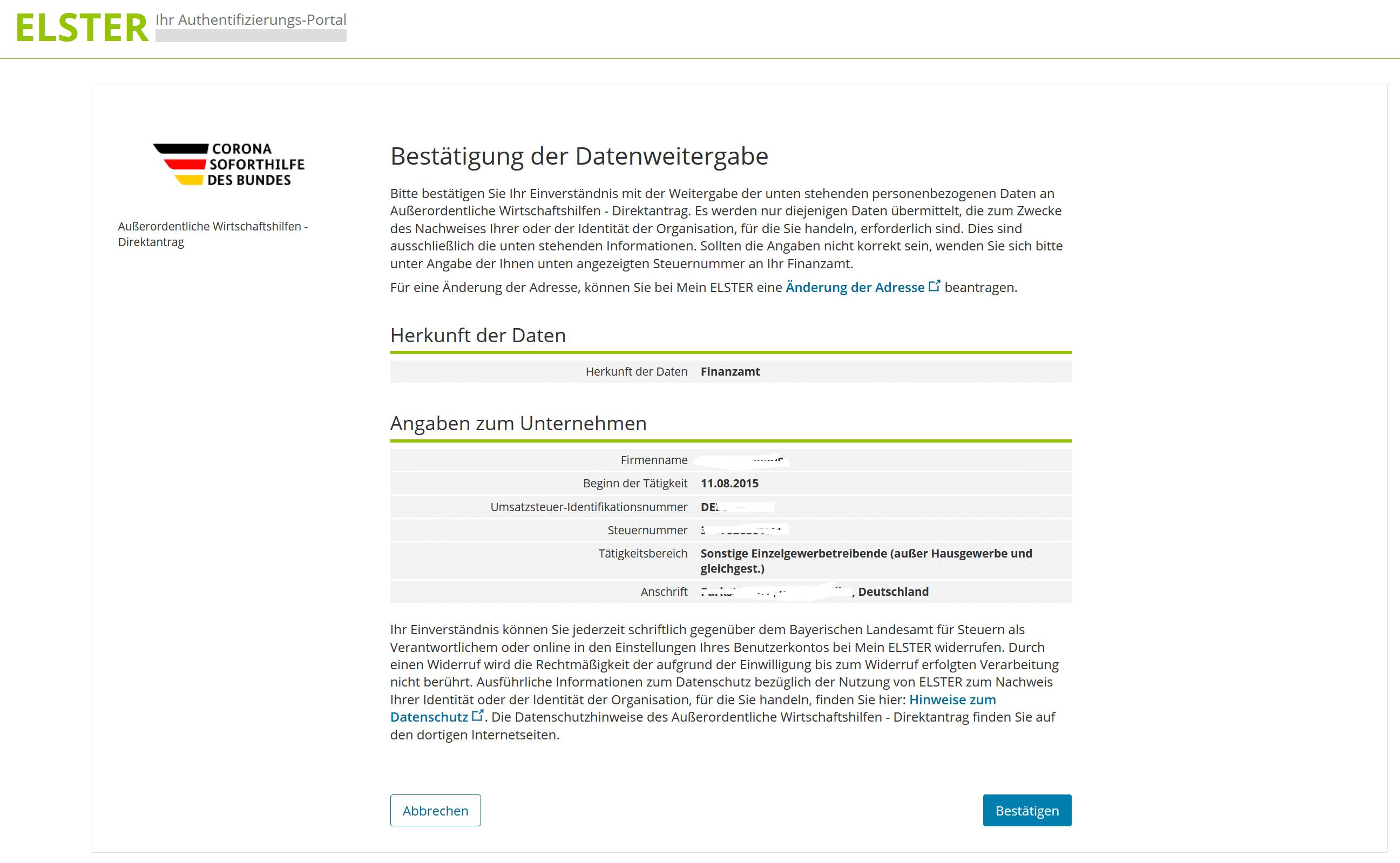 Corona Novemberhilfe, Corona Novemberhilfe – Antragsverfahren für Soloselbstständige