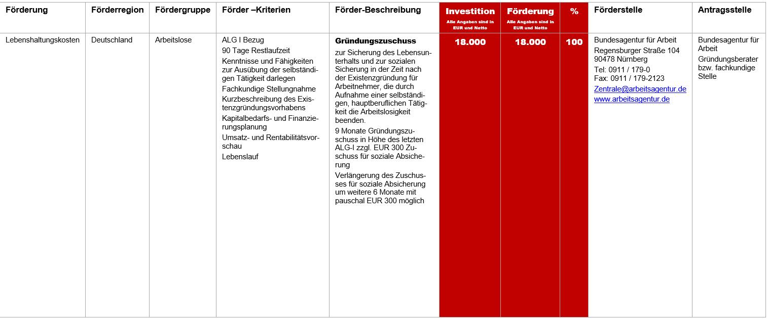 Gründungszuschuss, Gründungszuschuss oder Einstiegsgeld vom Arbeitsamt