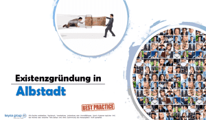Existenzgründung in Albstadt