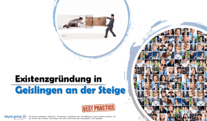 Existenzgründung in Geislingen an der Steige