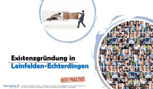 Existenzgründung in Leinfelden-Echterdingen