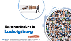 Existenzgründung in Ludwigsburg