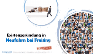 Existenzgründung in Neufahrn bei Freising