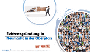 Existenzgründung in Neumarkt in der Oberpfalz