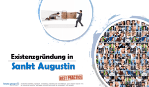Existenzgründung in Sankt Augustin