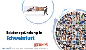 Existenzgründung in Schweinfurt