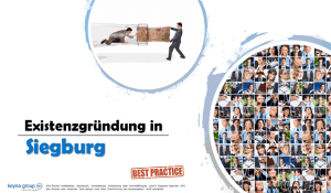 Existenzgründung in Siegburg