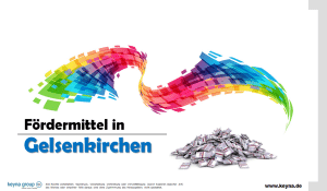 Fördermittel in Gelsenkirchen
