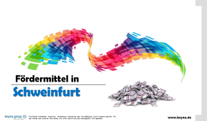Fördermittel in Schweinfurt